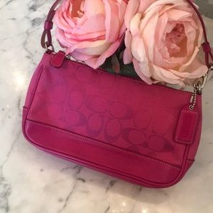 Authentic Coach Clutch in hot pink!
